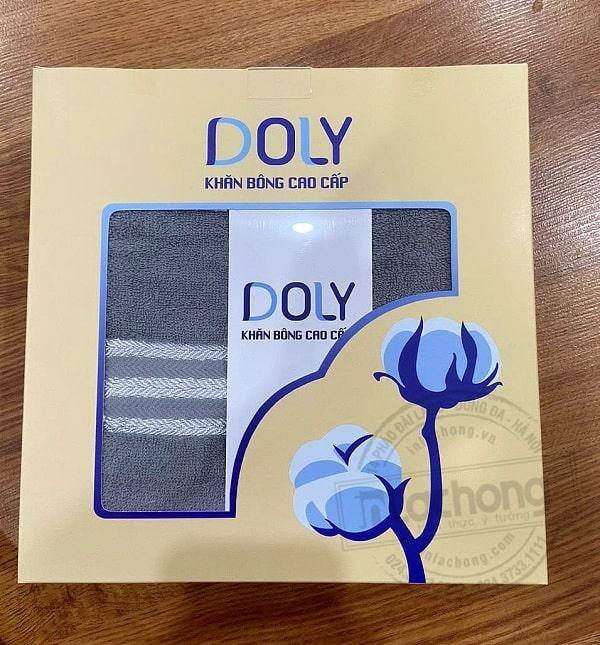 in hộp giấy đựng khăn bông DOLY do Lạc Hồng sản xuất