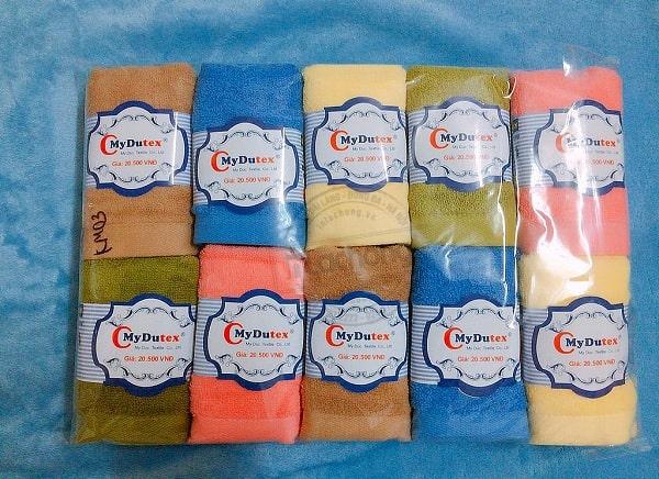 In tem cuộn khăn MyDutex do Lạc Hồng sản xuất