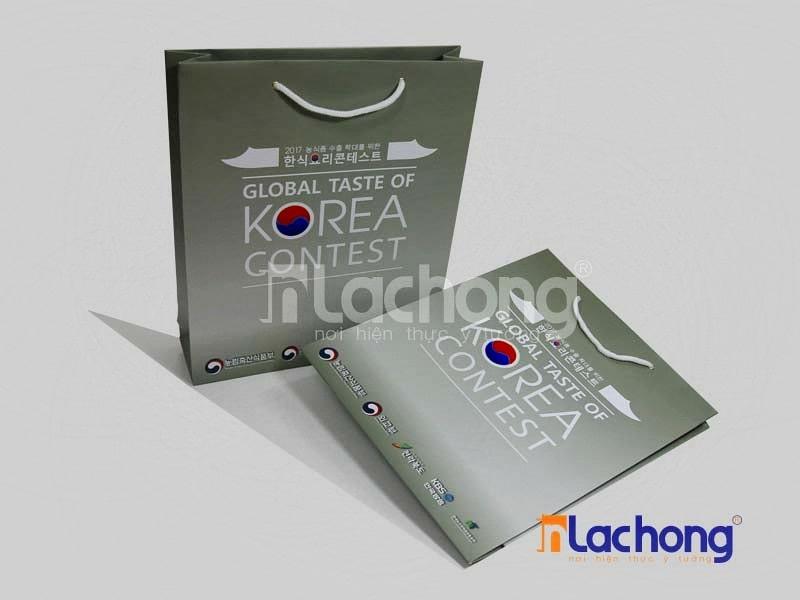 Mẫu túi giấy cho sự kiện giao lưu văn hóa Hàn Quốc tại Hà Nội do Lạc Hồng in ấn
