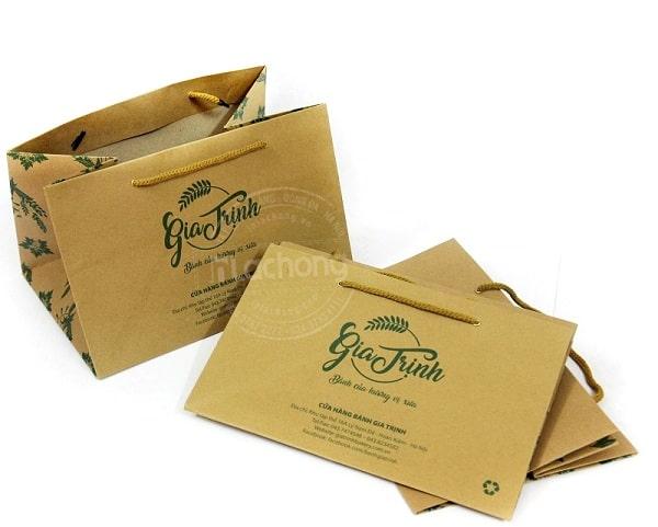Túi giấy kraft đựng bánh Gia Trịnh