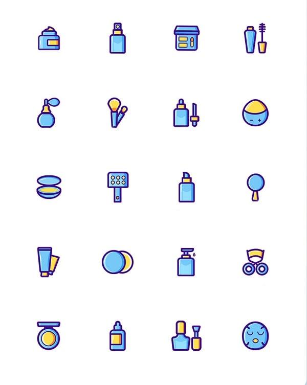 Các mẫu icon đồng điệu về màu sắc