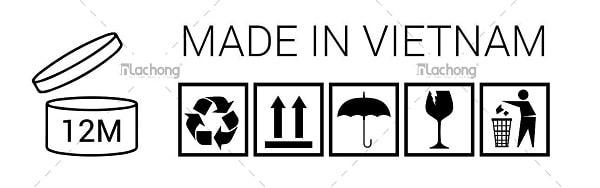 Mẫu biểu tượng thường thấy dùng cho vỏ hộp đựng mỹ phẩm