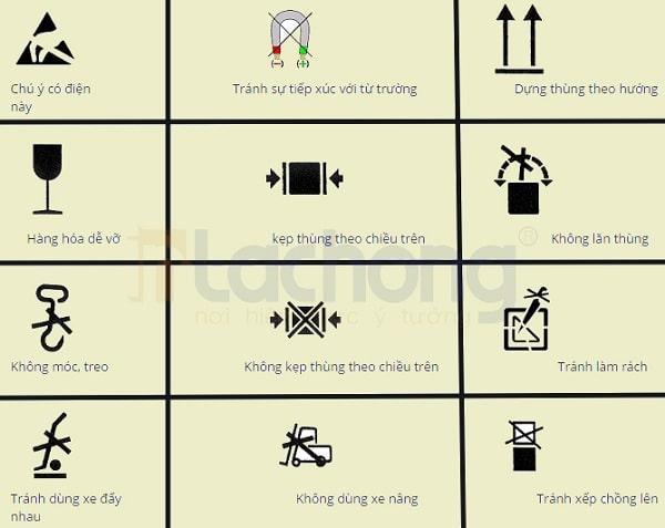 Tùy vào sản phẩm mà mỗi biểu tượng sẽ được sử dụng sao cho phù hợp nhất