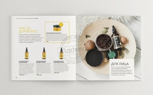 Nội dung và hình ảnh trong catalogue được thiết kế với bố cục hài hòa, dễ đọc, cung cấp thông tin hiệu quả đến khách hàng