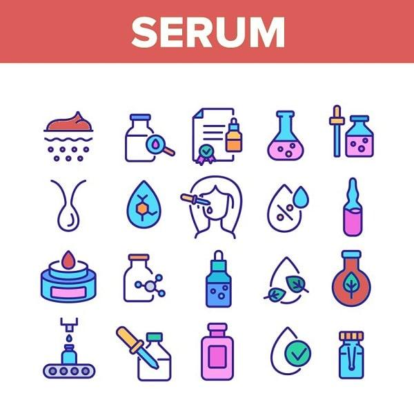 Nên sử dụng các loại biểu tượng thể hiện công dụng của serum vào thiết kế
