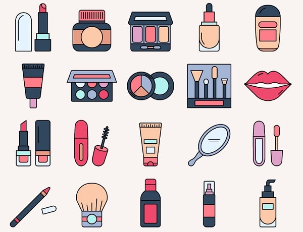 Tải các mẫu icon, biểu tượng mỹ phẩm dễ dàng tại các trang web ảnh