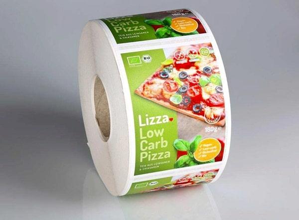 In nhãn dán Pizza dạng cuộn