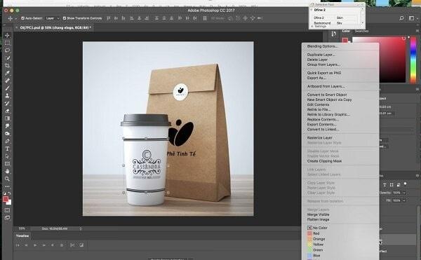 Cách dựng mẫu Mockup và thiết kế túi giấy
