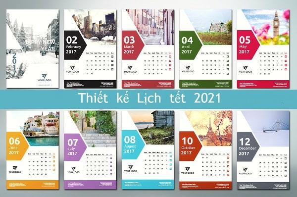 Thiết kế lịch tết 2021 nhanh, sáng tạo, theo yêu cầu khách hàng tại Lạc Hồng