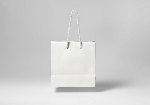 Mock-up túi giấy kraft trắng FREE