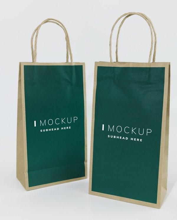 Mockup túi giấy Free