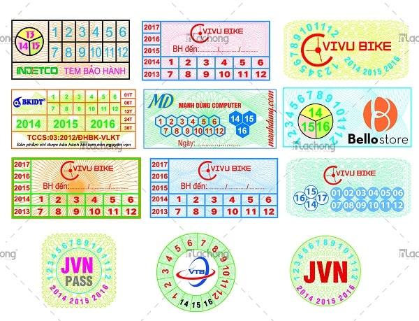 Mẫu thiết kế tem vỡ bảo hành sản phẩm của Lạc Hồng