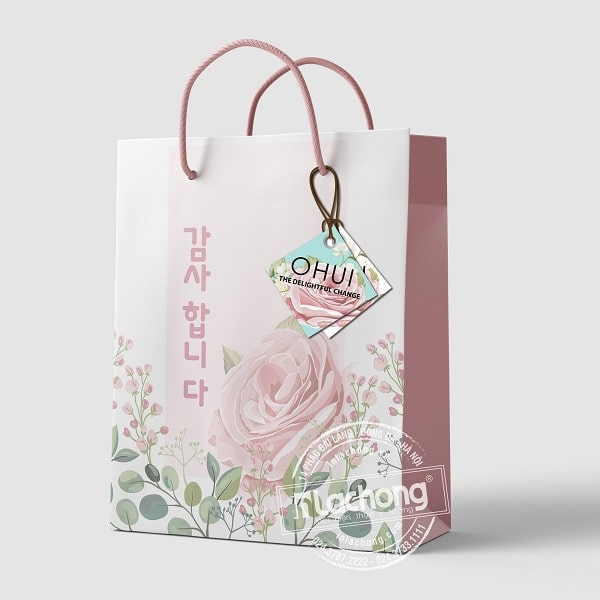 Mẫu thiết kế túi giấy đựng quà đẹp do Lạc Hồng thiết kế và gia công