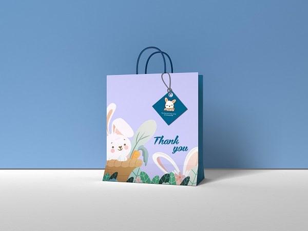 Túi giấy đựng quà moshi thiết kế bắt mắt
