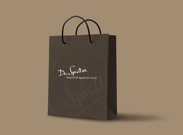 Mẫu thiết kế túi giấy đẹp cho thương hiệu mỹ phẩm Dr.Spiller tại Lạc Hồng