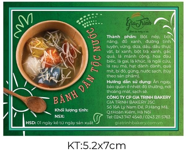 Nhãn dán bánh dân tộc Gia Trịnh do Lạc Hồng thiết kế
