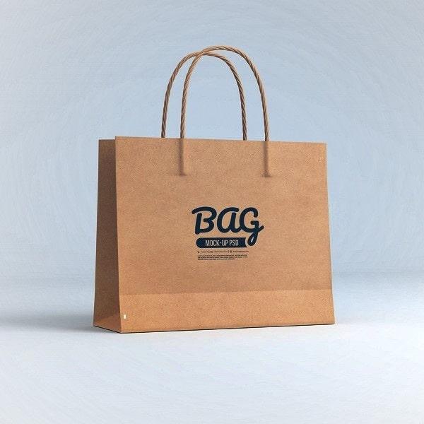 Túi xách giấy mockup