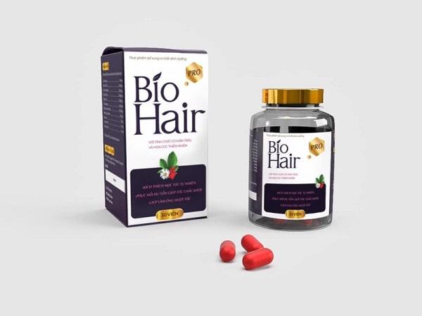 Mẫu hộp in logo thực phẩm bổ sung chất dinh dưỡng cho tóc Bio Hair