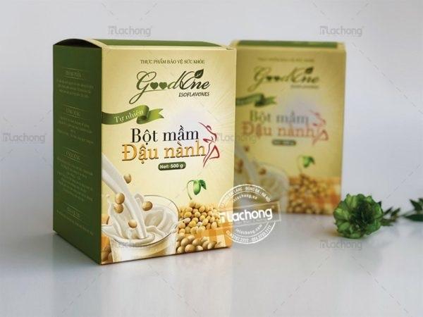Mẫu hộp in logo thực phẩm bao vệ sức khỏe Good One