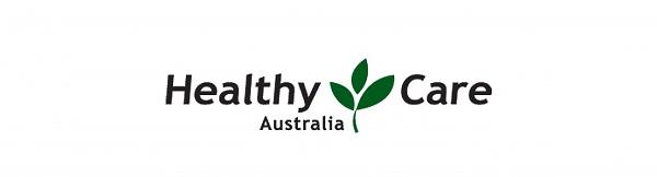 Mẫu logo thực phẩm chức năng Healthy Care - có in xuất xứ tăng độ uy tín cho sản phẩm