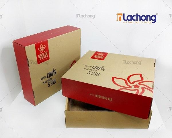 Sản xuất hộp carton sóng đựng vịt quay Phạm Lý
