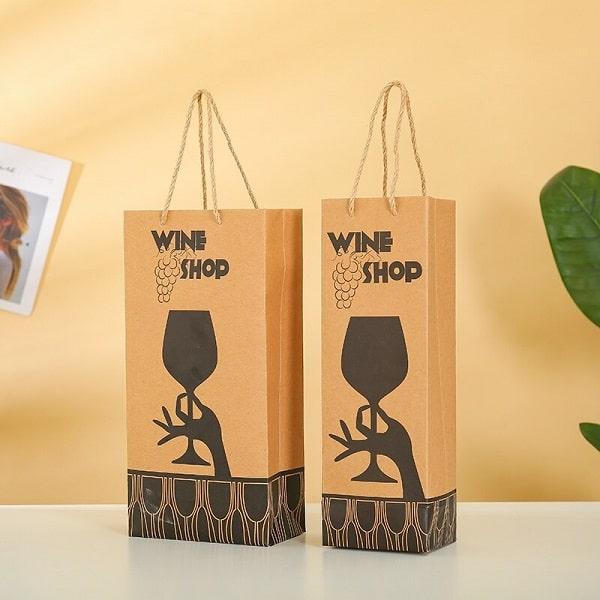 Mẫu túi giấy đựng rượu đẹp