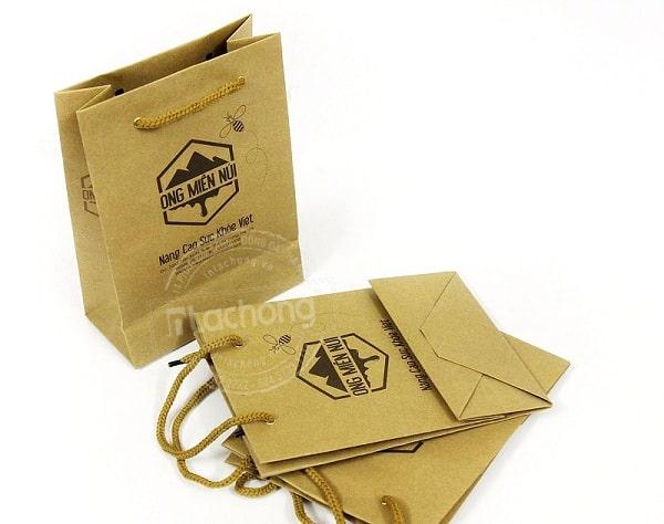 Mẫu túi giấy chất liệu Kraft đựng thực phẩm