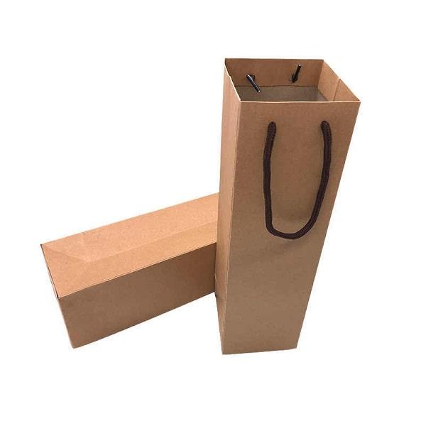 Mẫu túi giấy kraft đựng rượu