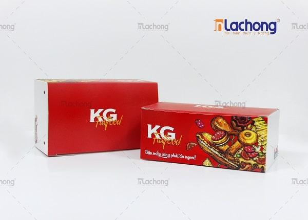 Gia công hộp giấy đựng đồ ăn nhanh Fastfood KG