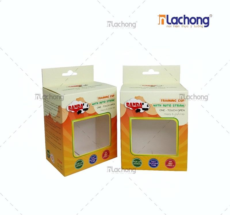 Mẫu vỏ hộp giấy có móc treo Panda