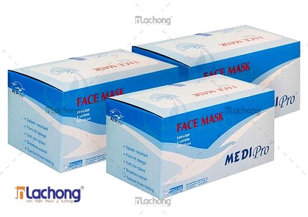 In vỏ hộp giấy khẩu trang tại Yên Bái do Lạc Hồng thiết kế