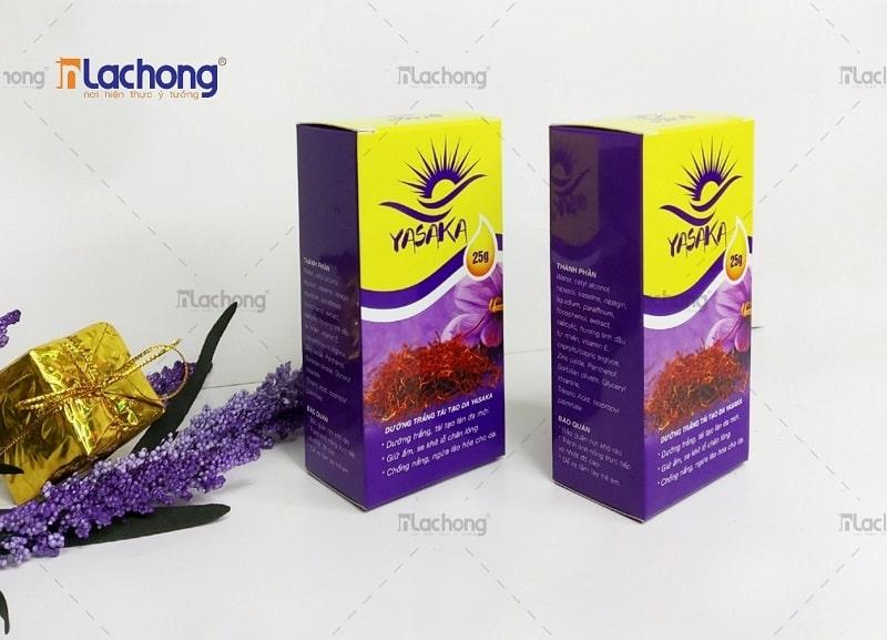 In hộp giấy đựng mỹ phẩm YASAKA - khách hàng tại Quảng Ninh của Lạc Hồng
