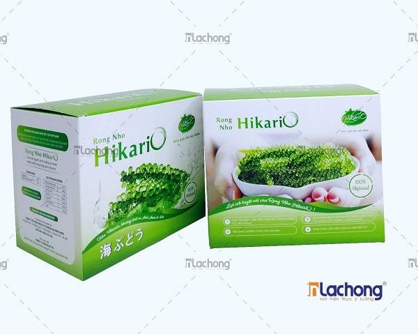 Hộp giấy đựng rong biển Hikari đẹp,kích thích thị giác của khách hàng