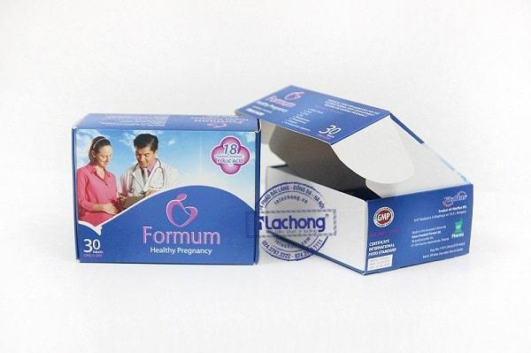 Mẫu hộp giấy đựng thực phẩm bổ sung vi chất
