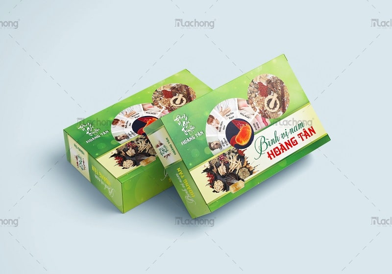 Mẫu thiết kế hộp thuốc đông y gia truyền Hoàng Tân