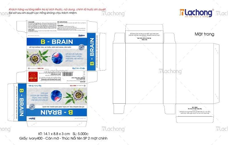 Mẫu thiết kế vỏ hộp B - BRAIN của Lạc Hồng