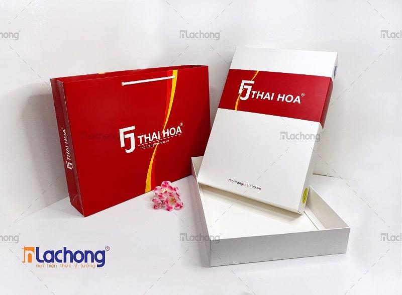 Sản xuất bao bì túi giấy, hộp giấy cho shop thời trang Thai Hoa