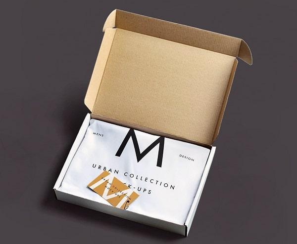 Mẫu vỏ hộp carton sóng đựng áo