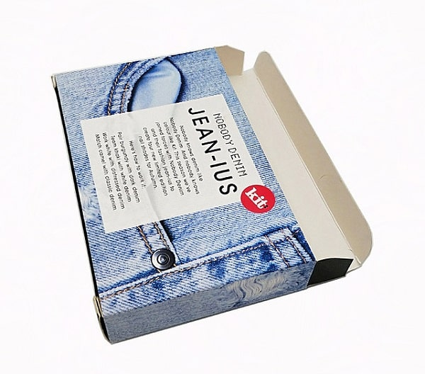 Thiết kế sáng tạo hộp giấy đựng quần Jean