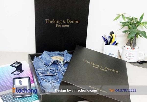 Sản xuất hộp đựng áo Denim của Lạc Hồng
