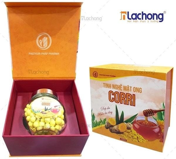Sản xuất vỏ hộp đựng tinh bột nghệ bằng carton lạnh có khay định hình sản phẩm bên trong của Lạc Hồng