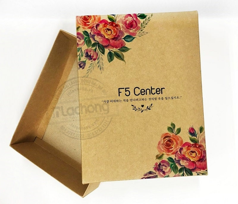 Mẫu in hộp giấy bằng chất liệu kraft mang đến tính thẩm mỹ độc đáo cho sản phẩm