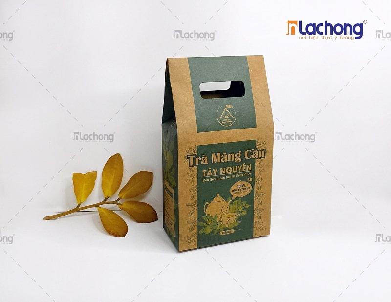 Gia công hộp giấy đựng trà bằng chất liệu kraft
