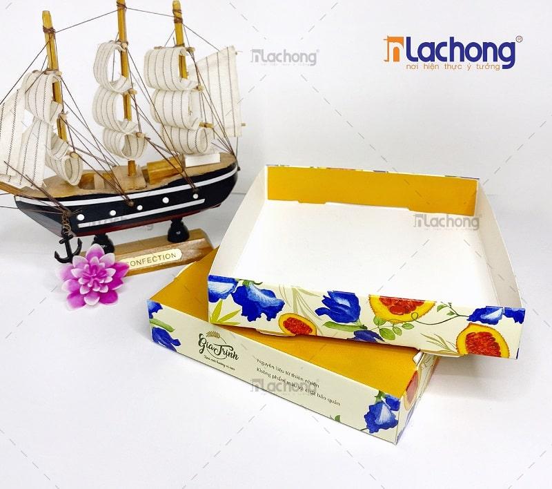 Mẫu khay giấy đựng bánh Gia Trịnh