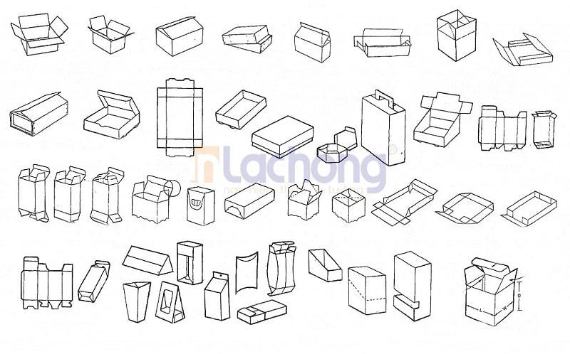 Một số kiểu dáng in hộp giấy phổ biến tại Lạc Hồng