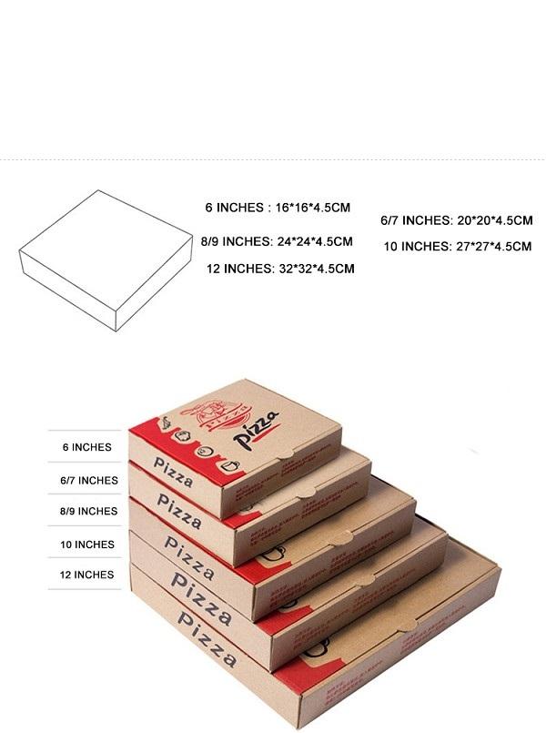 Kích thước hộp giấy đựng Pizza