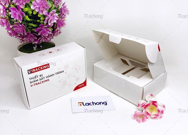 Mẫu hộp giấy đựng thiết bị giám sát V-TRACKING